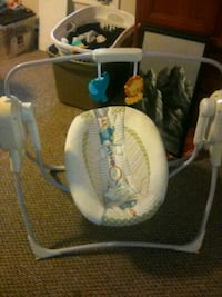 baby's white and blue swing chair Hagerstown, 21740