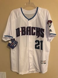 Diamondbacks Zach Grienke Jersey XL 1958 mi