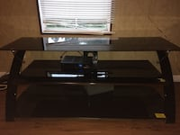 black glass top TV stand 965 mi