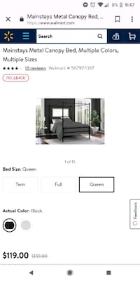 Canopy bed Sheers and Curtains included  Heath, 43056