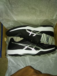 pair of black-and-white Nike running shoes Windsor Mill