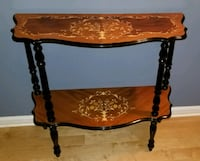 Italian Inlaid Wood Accent Table Herndon, 20170