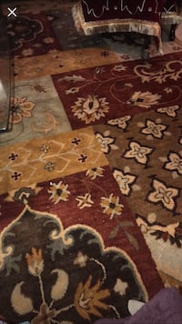 brown and white floral area rug Bolingbrook, 60490