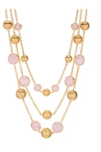 gold-colored and pink beaded necklace Toronto, M1E 4R1