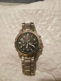 SAVE $50 FOSSIL Chronograph Silver Men's Watch 542 km