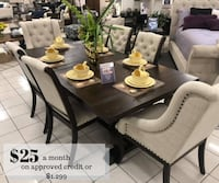 Dining table for $25 a month on approved credit or Santa Ana, 92706