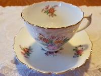 Stunning 1945-1951 Coalport Bone China Tea Cup & Saucer For Sale! Ottawa