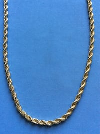 """30"""" Rope Chain- 14k Gold Plated- 6mm Boca Raton, 33433"""