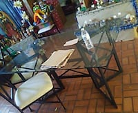 rectangular glass top table with four chairs Fort Worth, 76110