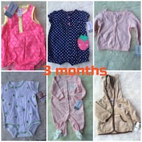 Brand new carters baby clothes 3 months Toronto, M5J 2Y4
