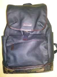 black and gray leather backpack Calgary