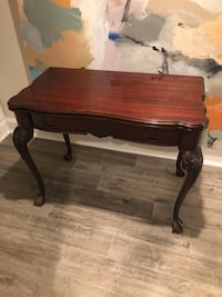 19th-Century Antique Mahogany Console / Game Table!
