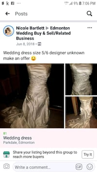 Wedding dress  Edmonton, T5N 2Z9