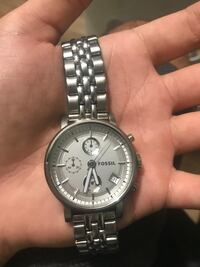 Silver Fosssil watch