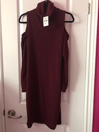 New burgundy cold shoulder sweater dress Hamilton, L9C 0C7