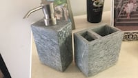 Gray stone pump bottle and toothbrush holder  Fort Collins, 80524