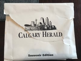 Calgary Herald Souvenir Edition millennium newspapers 1999 2000