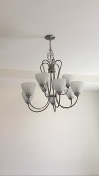 Black and white uplight chandelier Surprise, 85388