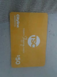 the shopping channel 50$ gift card Burlington