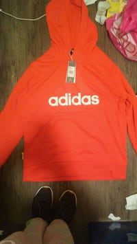 Mems red new size large adidas hoodie