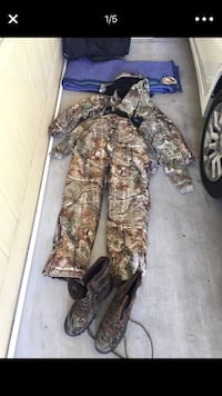 brown and gray real tree camouflage overall pants 2240 mi