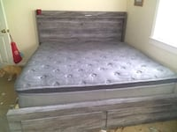 Moving selling king bed frame and night stand