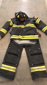 Firefighters  Bunker Gear and Helmet Used
