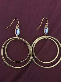 Gorgeous earrings with blue Swarovski stones.  Montgomery Village, 20886