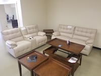 Beige new real leather power recliner sofa couch OR loveseat with console and USB in side  Jacksonville, 32246