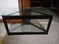 black framed glass top TV stand Cedar Falls, 50613