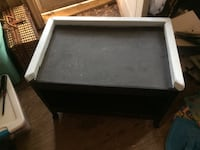 Rolling table/cart. Black chalkboard paint and light blue edging  Liverpool, 13088