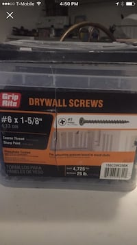 Grip rite 25lbs of drywall screws 1-5/8 Tallahassee, 32304