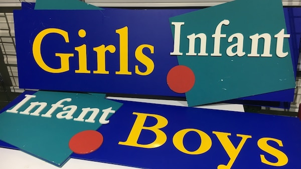 Display signs $40 each 5ft x 18 inch