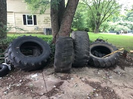 Cross fit, flipping, exercise tires