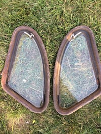 Very old vintage car windows. Antique! One of a kind!