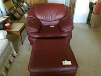 brown leather sofa chair and ottoman Newark, 43055