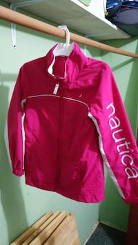 pink and white zip-up jacket Greenville