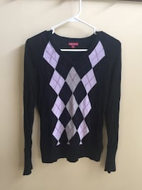 Women's Merona Argyle Sweater (Size: Small) Chantilly, 20152