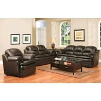 Brand new leather 3pc sofa set - made in Canada  Toronto, M9W 0A6