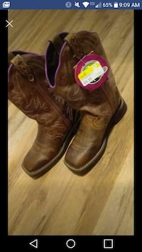 pair of brown leather cowboy boots screenshot Hillsdale, 47854