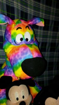 multi colored dog plush toy Harvey