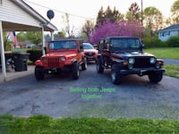 1998 JEEP WRANGLER TJ 4.0(black). AND 1992 JEEP WRANGLER YJ 2.5 (red) located in Winchester VA Winchester, 22602