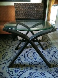 black and gray metal framed glass-top table Gainesville, 32601