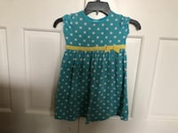 girl's blue and white polka dot dress Omaha, 68105