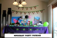 Minecraft Party Package Billings, 59105