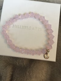 beaded pink Hillberg & Berk bracelet with box