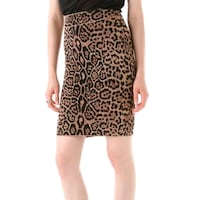 BCBG Leopard Power Skirt