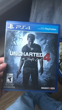 Uncharted 4 PS4 game case