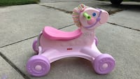 purple Fisher-Price horse ride on toy Troy, 48084