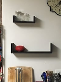 Brown wooden shelves 25 mi